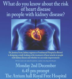 The risk of heart disease in people with kidney disease
